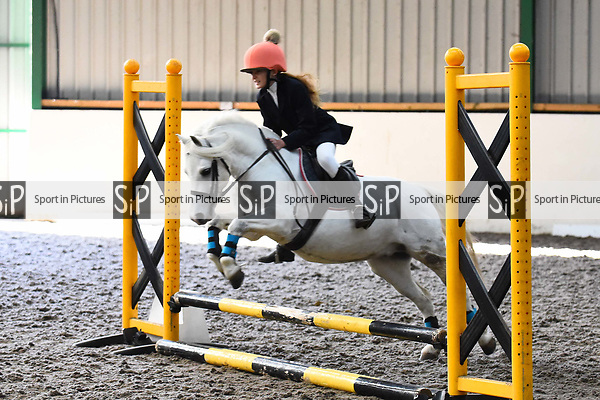 Stapleford Abbotts. United Kingdom. 03 November 2019. Class 2. Unaffiliated Showjumping championship show. Brook Farm training centre. Stapleford Abbotts. Essex. United Kingdom. Credit Melody Fisher/Sport in Pictures.~ 03/11/2019.  MANDATORY Credit Melody Fisher/SIP photo agency - NO UNAUTHORISED USE - 07837 394578