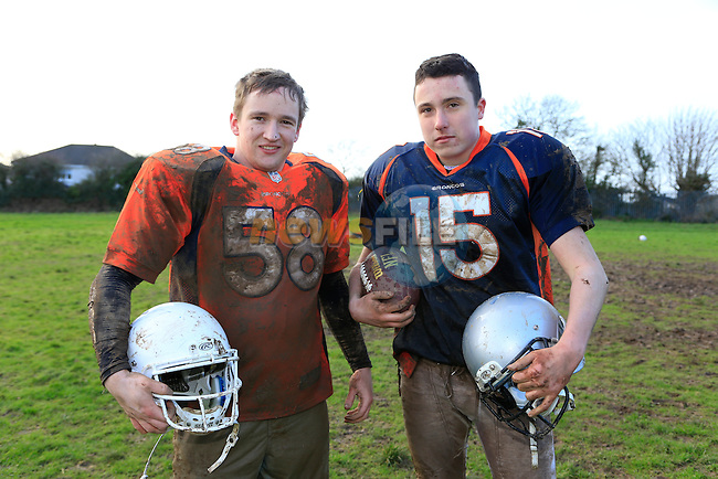 Drogheda Lightening players Mick O'Shea and Jack Touhy<br /> Picture: Fran Caffrey www.newsfile.ie