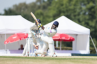 Keith Barker of Hampshire collects a boundary wide of mid wicket during Middlesex CCC vs Hampshire CCC, Bob Willis Trophy Cricket at Radlett Cricket Club on 11th August 2020