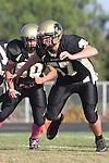 Palos Verdes, CA 10/20/11 - Nathaniel Troup (Peninsula #57) in action during the Leuzinger vs Peninsula JV football game.