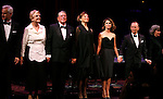 John Slattery, Angela Lansbury, Brian Bedford, Annette Bening, Keri Russell, Joel Grey & Zoe Caldwell.during the Curtain Call for The Actors Fund One Night Only Benefit of ALL ABOUT EVE at the Eugene O'Neill Theatre in New York City..November 10, 2008.© Walter McBride /