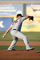 Cody Reed (26) of the Visalia Rawhide pitches against the Lancaster JetHawks at The Hanger on August 9, 2017 in Lancaster, California. Lancaster defeated Visalia, 7-4. (Larry Goren/Four Seam Images)