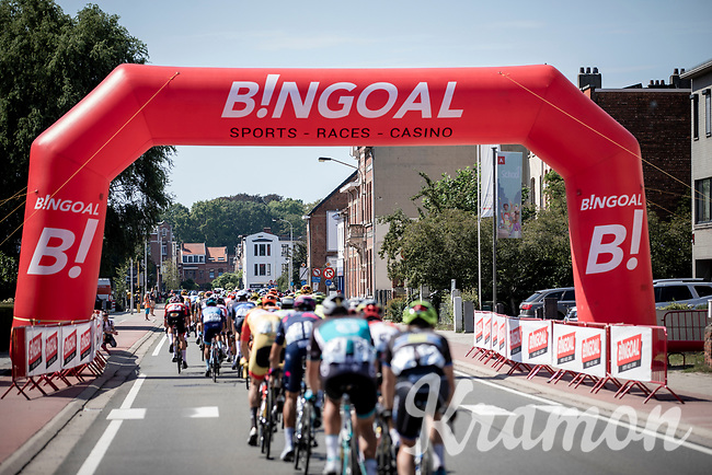 peloton. <br /> <br /> 94th Schaal Sels 2019<br /> One Day Race: Merksem  >  Merksem  (UCI 1.1)<br /> ©kramon