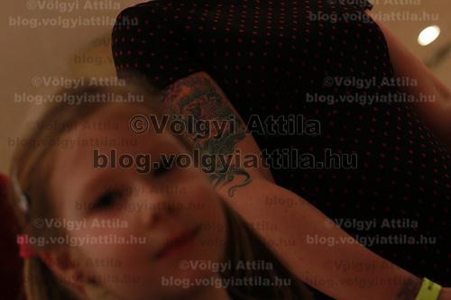 International tattoo exhibition in Budapest, Hungary on February 26, 2012. ATTILA VOLGYI