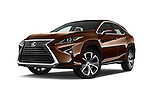 Stock pictures of low aggressive front three quarter view of 2016 Lexus RX 350 5 Door SUV Low Aggressive