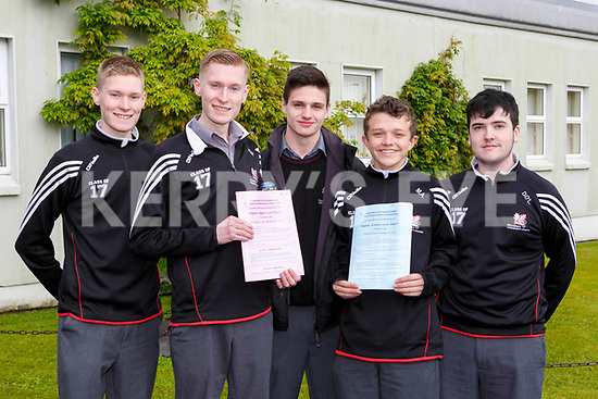 Andrew and Paul Brosnan, Daniel O'Connor, Michael Aheren and Donagh O'Leary Killarney Community College delighted to finally get the Leaving Cert started with the English paper on Wednesday