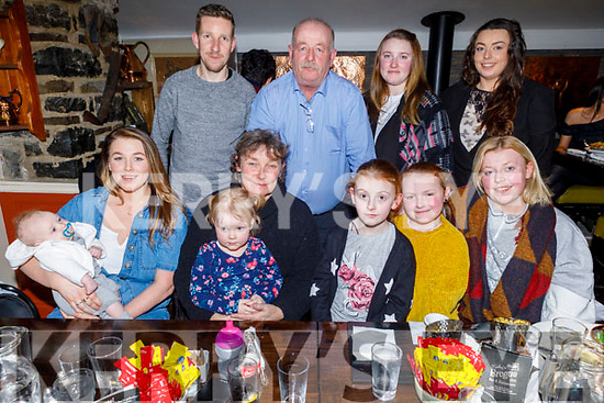Enjoying the evening in the Brogue Inn on Friday.<br /> Seated l to r: Amy O'Donnell, Grayson Griffin, Mary Ann O'Donnell, Lexie Griffin, Isabella and Madison Eliza Clifford and Jodie O'Donnell.<br /> Back l to r: Tommy Griffin, Paul O'Donnell, Tracy Clifford and Rebecca O'Donnell.