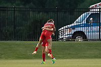 Boyds, MD - Saturday June 03, 2017: Mallory Pugh, Kristie Mewis during a regular season National Women's Soccer League (NWSL) match between the Washington Spirit and Houston Dash at Maureen Hendricks Field, Maryland SoccerPlex.