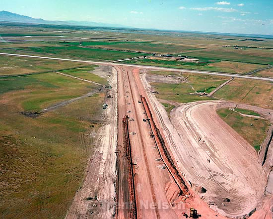 Construction of new runway from the air.<br />