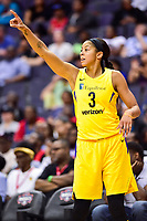 Washington, DC - June 15, 2018: Los Angeles Sparks forward Candace Parker (3) calls out a play during game between the Washington Mystics and Los Angeles Sparks at the Capital One Arena in Washington, DC. (Photo by Phil Peters/Media Images International)