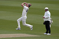 Rikki Clarke in bowling action for Surrey during Surrey CCC vs Essex CCC, Specsavers County Championship Division 1 Cricket at the Kia Oval on 12th April 2019