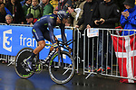 Daniele Bennati (ITA) Movistar Team in action during Stage 1, a 14km individual time trial around Dusseldorf, of the 104th edition of the Tour de France 2017, Dusseldorf, Germany. 1st July 2017.<br /> Picture: Eoin Clarke | Cyclefile<br /> <br /> <br /> All photos usage must carry mandatory copyright credit (&copy; Cyclefile | Eoin Clarke)