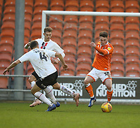 Blackpool's Jordan Thompson and Charlton Athletic's Krystian Bielik<br /> <br /> Photographer Stephen White/CameraSport<br /> <br /> The EFL Sky Bet League One - Blackpool v Charlton Athletic - Saturday 8th December 2018 - Bloomfield Road - Blackpool<br /> <br /> World Copyright &copy; 2018 CameraSport. All rights reserved. 43 Linden Ave. Countesthorpe. Leicester. England. LE8 5PG - Tel: +44 (0) 116 277 4147 - admin@camerasport.com - www.camerasport.com