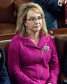 Former United States Representative Gabby Giffords (Democrat of Arizona) listens to the speeches on the floor of the US House of Representatives on the first day of the 115th Congress in the US Capitol in Washington, DC on Tuesday, January 3, 2017.<br /> Credit: Ron Sachs / CNP<br /> (RESTRICTION: NO New York or New Jersey Newspapers or newspapers within a 75 mile radius of New York City)