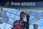 Greg Van Avermaet (BEL) BMC Racing Team at sign on before the start of Stage 5 of the 2017 Tirreno Adriatico running 210km from Rieti to Fermo, Italy. 12th March 2017.<br /> Picture: La Presse/Gian Mattia D'Alberto | Cyclefile<br /> <br /> <br /> All photos usage must carry mandatory copyright credit (&copy; Cyclefile | La Presse)