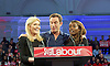 Ed Miliband <br /> Leader of the Labour Party <br /> Campaign Event at The Royal Horticultural Halls, 80 Vincent Square, London, SW1P 2PE<br /> 2nd May 2015 <br /> <br /> Ed Miliband MP <br /> Labour Leader <br /> General Election Campaign 2015 <br /> <br /> Michelle Collins <br /> Jason Isaacs <br /> June Sarpong <br /> <br /> <br /> <br /> Photograph by Elliott Franks <br /> Image licensed to Elliott Franks Photography Services