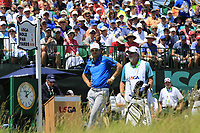 Zach Johnson (USA) on the 1st tee to start his match during Friday's Round 2 of the 117th U.S. Open Championship 2017 held at Erin Hills, Erin, Wisconsin, USA. 16th June 2017.<br /> Picture: Eoin Clarke | Golffile<br /> <br /> <br /> All photos usage must carry mandatory copyright credit (&copy; Golffile | Eoin Clarke)