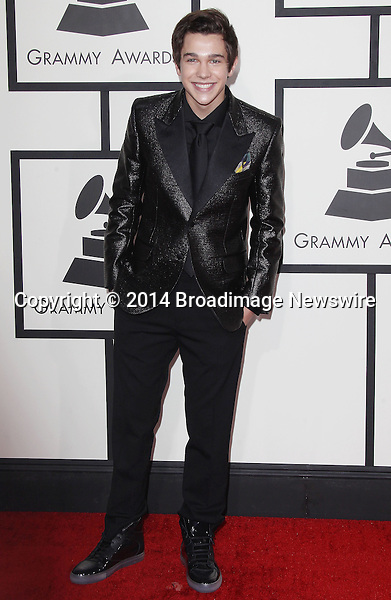 Pictured: Austin Mahone<br /> Mandatory Credit &copy; Frederick Taylor/Broadimage<br /> 56th Annual Grammy Awards - Red Carpet<br /> <br /> 1/26/14, Los Angeles, California, United States of America<br /> <br /> Broadimage Newswire<br /> Los Angeles 1+  (310) 301-1027<br /> New York      1+  (646) 827-9134<br /> sales@broadimage.com<br /> http://www.broadimage.com