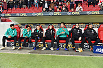 04.11.2018, Opel-Arena, Mainz, GER, 1 FBL, 1. FSV Mainz 05 vs SV Werder Bremen, <br /> <br /> DFL REGULATIONS PROHIBIT ANY USE OF PHOTOGRAPHS AS IMAGE SEQUENCES AND/OR QUASI-VIDEO.<br /> <br /> im Bild: Die Werder Bank mit Claudio Pizarro (SV Werder Bremen #4), Nuri Sahin (SV Werder Bremen #17), Johannes Eggestein (SV Werder Bremen #24), Marco Friedl (SV Werder Bremen #32), Sebastian Langkamp (SV Werder Bremen #15), Luca Plogmann (SV Werder Bremen #40), Martin Harnik (SV Werder Bremen #9)<br /> <br /> Foto © nordphoto / Fabisch