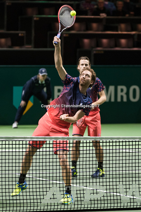 ABN AMRO World Tennis Tournament, Rotterdam, The Netherlands, 17 Februari, 2017, Matwe Middelkoop (NED), Wesley Koolhof (NED)<br /> Photo: Henk Koster