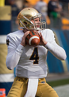 Notre Dame quarterback Montgomery VanGorder. The Notre Dame Fighting Irish football team defeated the Pitt Panthers 42-30 on Saturday, November 7, 2015 at Heinz Field, Pittsburgh, Pennsylvania.