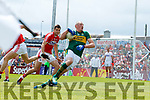Kieran Donaghy Kerry  in action against Kevin Crowley Cork in the Munster Senior Football Final at Fitzgerald Stadium on Sunday.