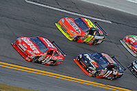 15 February  2009, Daytona Beach, Florida USA.Tony Stewart (14), Jeff Gordon (24) and Denny Hamlin..Daytona International Speedway: Daytona 500.©F.Peirce Williams 2009.F. Peirce Williams.photography