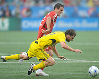 Hunter Freeman (2) and Eddie Gaven (12) in action at  BMO Field on Saturday September 13, 2008. .The game ended in a 1-1 draw.