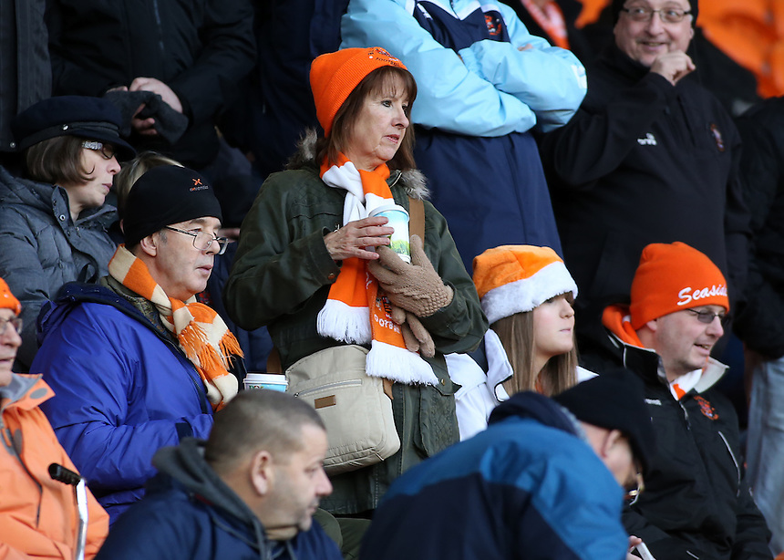 Blackpool fans enjoy the pre-match atmosphere<br /> <br /> Photographer David Shipman/CameraSport<br /> <br /> The EFL Sky Bet League Two - Blackpool v Luton Town - Saturday 17th December 2016 - Bloomfield Road - Blackpool<br /> <br /> World Copyright &copy; 2016 CameraSport. All rights reserved. 43 Linden Ave. Countesthorpe. Leicester. England. LE8 5PG - Tel: +44 (0) 116 277 4147 - admin@camerasport.com - www.camerasport.com
