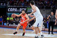 Real Madrid's Felipe Reyes and Valencia Basket's Fernando San Emeterio during Quarter Finals match of 2017 King's Cup at Fernando Buesa Arena in Vitoria, Spain. February 19, 2017. (ALTERPHOTOS/BorjaB.Hojas)