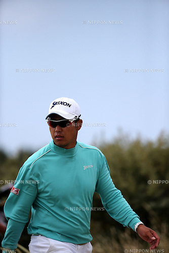 Hideki Matsuyama (JPN),<br /> JULY 21, 2013 - Golf :<br /> Hideki Matsuyama of Japan in action on 5th hole during the final round of the 142nd British Open Championship at Muirfield in Gullane, East Lothian, Scotland. (Photo by Koji Aoki/AFLO SPORT)