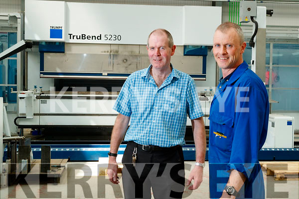 Stephen Pierce (Production Manager) and Alan Murphy (Production Supervisor), at Dairymaster, Causeway.