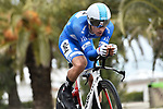 Race leader Michal Kwiatkowski (POL) Team Sky in action during Stage 7 of the 53rd edition of the Tirreno-Adriatico 2018 a 10km individual time trial around San Benedetto del Tronto, Italy. 13th March 2018.<br /> Picture: LaPresse/Fabio Ferrari | Cyclefile<br /> <br /> <br /> All photos usage must carry mandatory copyright credit (&copy; Cyclefile | LaPresse/Fabio Ferrari)