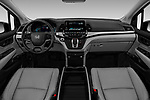 Stock photo of straight dashboard view of 2019 Honda Odyssey EX-L 5 Door Minivan Dashboard