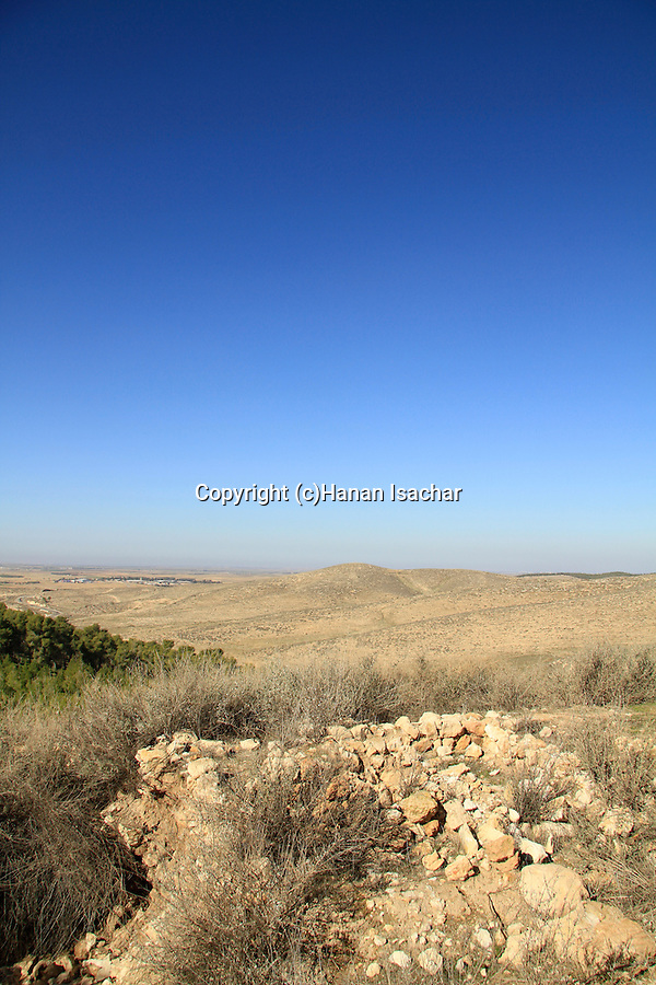 Israel, Shephelah, a view from Tel Halif site of biblical Rimmon