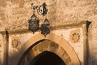 Afrique/Afrique du Nord/Maroc/Rabat: Afrique/Afrique du Nord/Maroc/Rabat: la kasbah des Oudaïas détail porte du jardin des Oudaïas