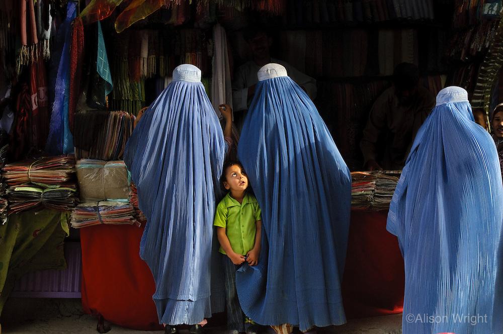 Women shopping in market