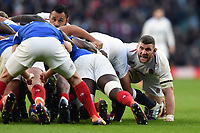 Mark Wilson of England in action at a scrum. Guinness Six Nations match between England and France on February 10, 2019 at Twickenham Stadium in London, England. Photo by: Patrick Khachfe / Onside Images