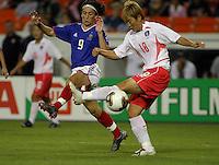 Marinette Pichon (France) v Yoo Mi Kim. 2003 WWC France/S.Korea