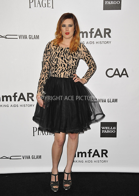 WWW.ACEPIXS.COM....October 11 2012, LA ....Rumer Willis arriving at the amfAR 3rd Annual Inspiration Gala at Milk Studios on October 11, 2012 in Los Angeles, California. ......By Line: Peter West/ACE Pictures......ACE Pictures, Inc...tel: 646 769 0430..Email: info@acepixs.com..www.acepixs.com