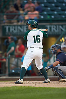 Michael Curry (16) of the Fort Wayne TinCaps at bat against the Bowling Green Hot Rods at Parkview Field on August 20, 2019 in Fort Wayne, Indiana. The Hot Rods defeated the TinCaps 6-5. (Brian Westerholt/Four Seam Images)