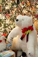 Christmas tree decorated with Christmas bear. Providence Festival of Trees. Portland. Oregon
