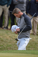 Lucas Bjerregaard (DEN) stands dejected after losing his match to Matt Kuchar (USA) on 18 during day 5 of the WGC Dell Match Play, at the Austin Country Club, Austin, Texas, USA. 3/31/2019.<br /> Picture: Golffile | Ken Murray<br /> <br /> <br /> All photo usage must carry mandatory copyright credit (&copy; Golffile | Ken Murray)