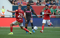Leeds United's Helder Costa is blocked by Bristol City's Tomas Kalas<br /> <br /> Photographer Ian Cook/CameraSport<br /> <br /> The EFL Sky Bet Championship - Bristol City v Leeds United - Sunday 4th August 2019 - Ashton Gate Stadium - Bristol<br /> <br /> World Copyright © 2019 CameraSport. All rights reserved. 43 Linden Ave. Countesthorpe. Leicester. England. LE8 5PG - Tel: +44 (0) 116 277 4147 - admin@camerasport.com - www.camerasport.com
