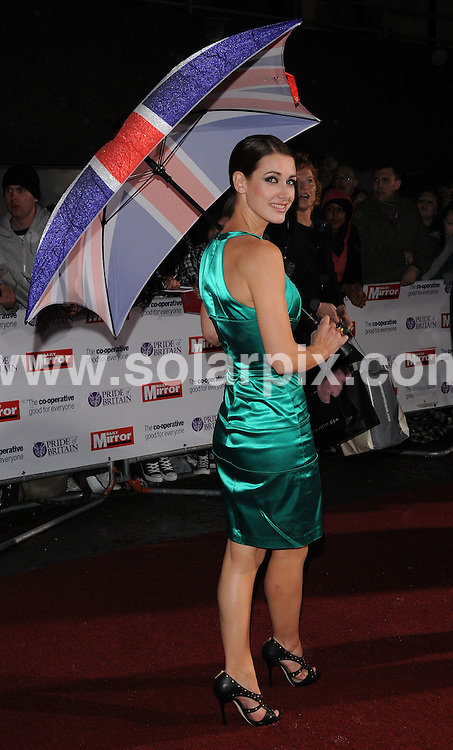 **ALL ROUND PICTURES FROM SOLARPIX.COM**.**WORLDWIDE SYNDICATION RIGHTS**.Arrivals for the Pride Of Britain Awards, held at Southbank Studios, London, UK. 30th September 2008..This pic: Kirsty Gallagher..JOB REF: 7500 SSD     DATE: 30_09_2008.**MUST CREDIT SOLARPIX.COM OR DOUBLE FEE WILL BE CHARGED* *UNDER NO CIRCUMSTANCES IS THIS IMAGE TO BE REPRODUCED FOR ANY ONLINE EDITION WITHOUT PRIOR PERMISSION*