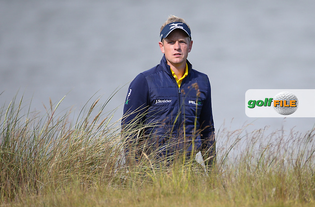Luke Donald (ENG) during the First Round of the 2016 Aberdeen Asset Management Scottish Open, played at Castle Stuart Golf Club, Inverness, Scotland. 07/07/2016. Picture: David Lloyd | Golffile.<br /> <br /> All photos usage must carry mandatory copyright credit (&copy; Golffile | David Lloyd)
