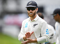 2nd December, Hamilton, New Zealand; Kane Williamson at lunch on day 4 of the 2nd test cricket match between New Zealand and England  at Seddon Park, Hamilton, New Zealand.