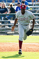 Houston, Texas-Feb. 19, 2011-Brian Ragira of Stanford plays first base. Rice defeated Stanford 7-1.