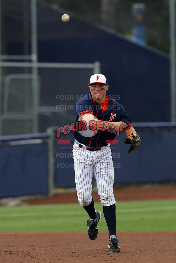 February 21 2010: Corey Jones of Cal. St. Fullerton during game against Cal. St. Long Beach at Goodwin Field in Fullerton,CA.  Photo by Larry Goren/Four Seam Images