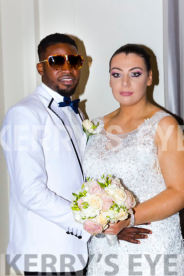 Deniel Okemutie, Basin Court, Tralee and Calett McGrath, Dublin, who were married in Killarney Registary office on Friday, best man was Dayo Aloge, bridesmaid was Emma McGrath, the reception was held in the Killarney Heights Hotel and the couple will reside in Tralee